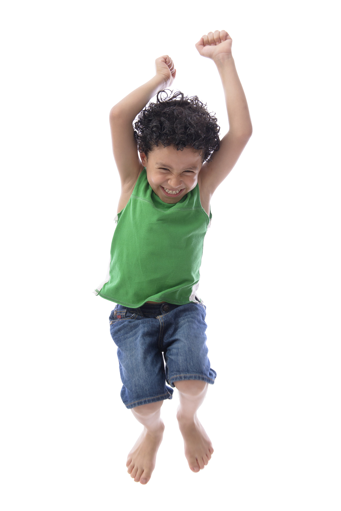Jumping boy - no background
